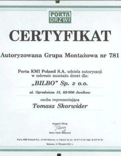 certyfikat_porta_drzwi
