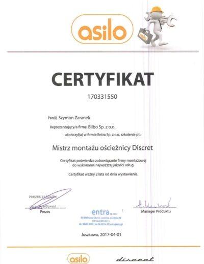 szymon_zaranek_certyfikat_asilo_ościeżnice