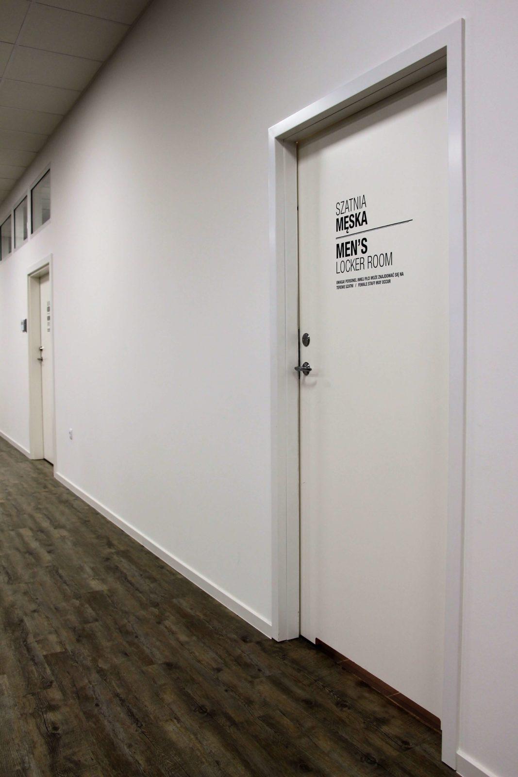 Drzwi wewnętrzne do szatni