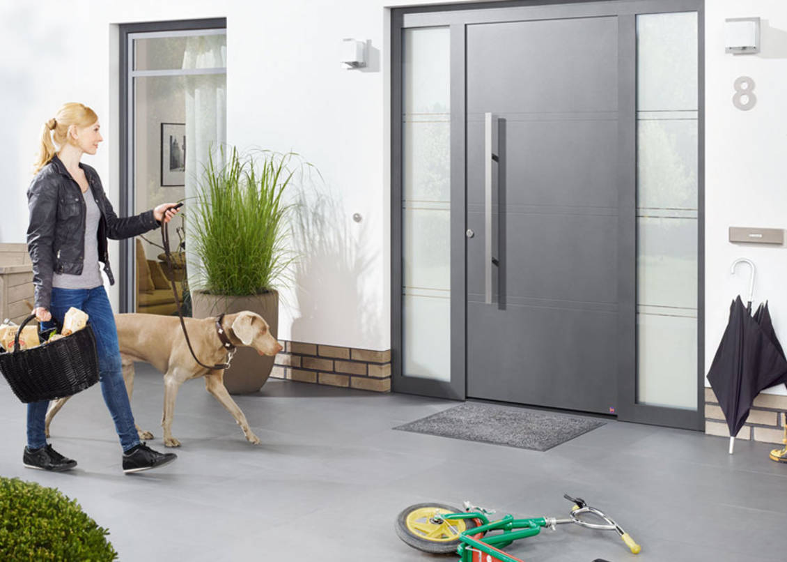 aluminiowe drzwi zewnętrzne Hörmann