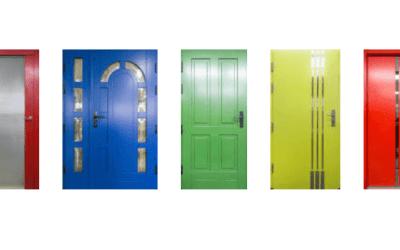 Drewniane drzwi zewnętrzne i wewnętrzne Cal – promocja wszystkie kolory jesieni